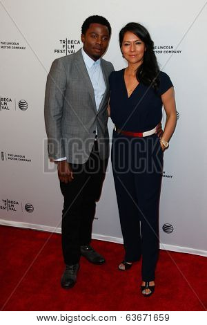NEW YORK-APR 18: Actor Derek Luke (L) and wife Sophia Adella Luke attend the