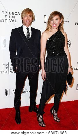 NEW YORK-APR 20: Director Amy Berg (R) and designer Mark Bouwer attend the