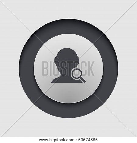 Vector modern circle icon.