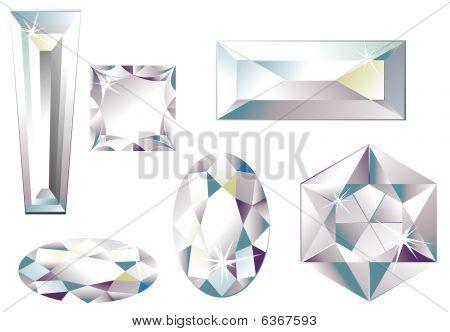 Different cut diamonds