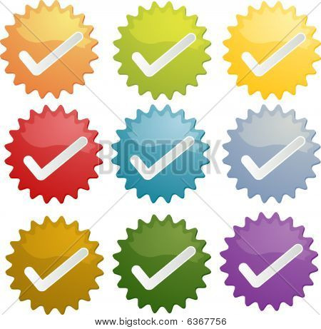 Yes Checkmark Seal Illustration