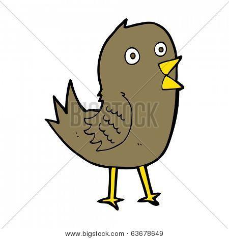 cartoon tweeting bird