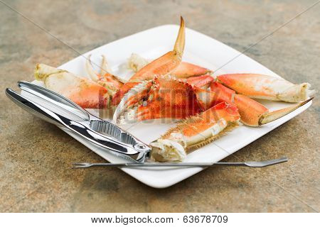 Large Crab Claw Freshly Cooked