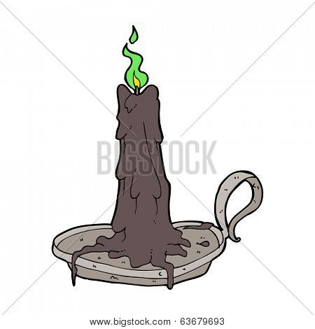cartoon spooky dribbling candle
