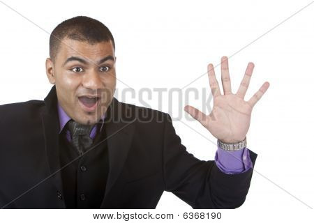 Young Businessman Is Surprised