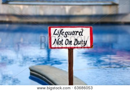 A life guard not on board sign board