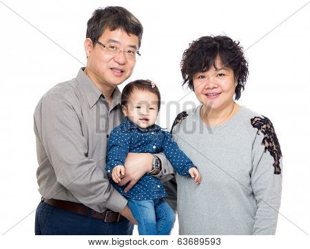 Asia grandparent with thier granddaughter