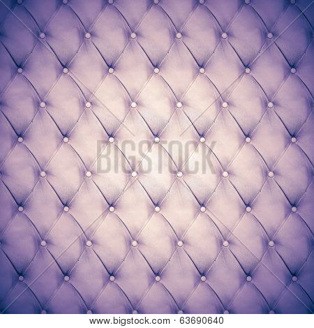 Abstract background texture of an old natural luxury, modern style leather with rhombs Classic white, violet and purple gray grungy skin of retro wall, door, sofa or studio interior with metal buttons