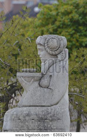 KIEV, UKRAINE -APR 21, 2014: Park decoration sculpture.Recreatio nal area of Kiev. .April 21, 2014 Kiev, Ukraine