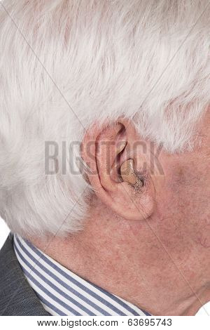 Old Man With Hearing Aid
