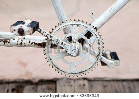 Old bicycle crank set pedal