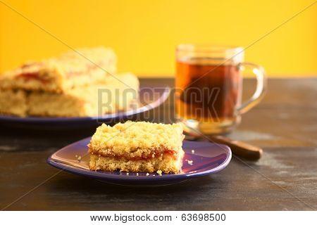 German Cake Called Streuselkuchen