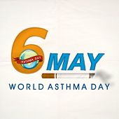 foto of asthma  - World Asthma Day concept with stylish text 6 May - JPG