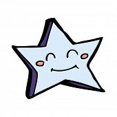 cartoon happy star character