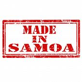 pic of samoa  - Grunge rubber stamp with text Made In Samoa - JPG
