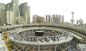 image of kaaba  - Muslim people praying at Kaaba in Mecca - JPG