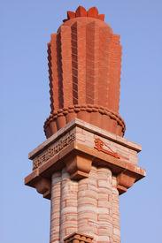 foto of gandhi  - Gandhi memorial pillar - JPG
