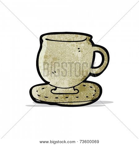 cup and saucer cartoon