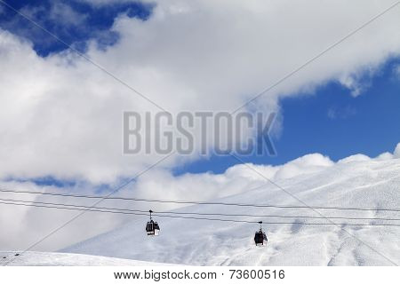 Gondola Lifts And Off-piste Slope At Sun Day