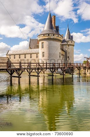 Chateau Of Sully Sur Loire With Moat