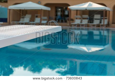 Outdoor Swimming Pool's White Board Detail