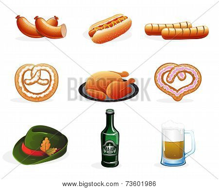 Beer And Snacks Icons
