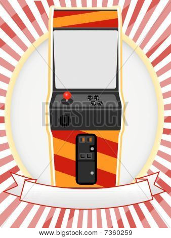 Video Arcade Cabinet Oval Ad Setting