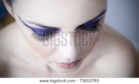 Professional Eye Makeup With Long Of Extension Eyelash