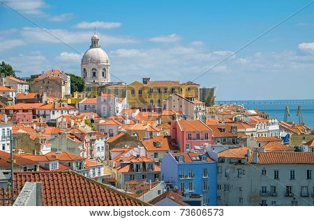 The old Alfama district in Lisbon