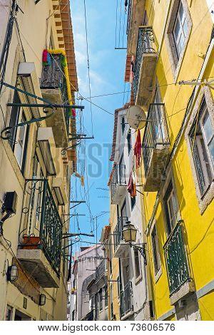 Small narrow street in Lisbon