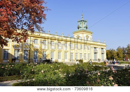 Royal Palace In Warsaw's Wilanow, Poland