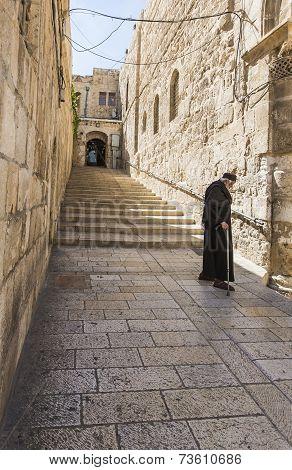 Monk Walking Down The Street