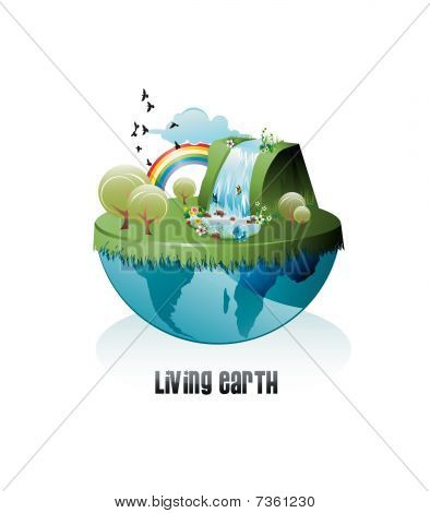 live earth vector
