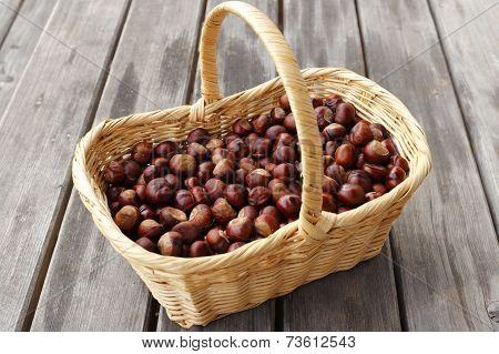 Many Chestnuts In A Basket