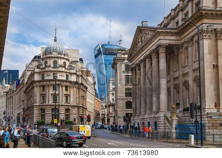 Bank of England. Square and underground station