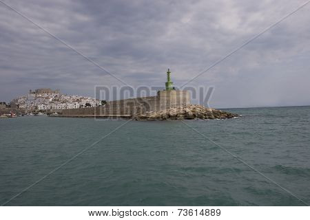 Peniscola city in the sea