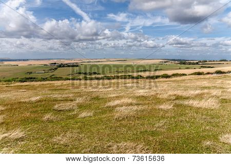 Meadows And Fields In Eastbourn Near Beachy Head