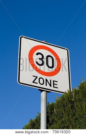 Sign maximum speed 30