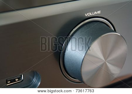 Close Up Of A Black Volume Knob