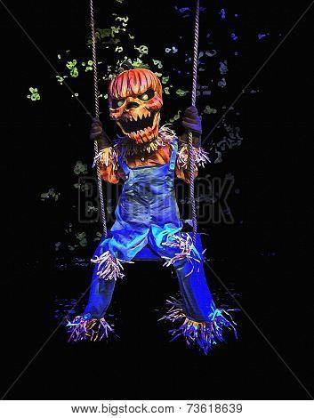 Jack-O-Lantern Scarecrow Halloween Art Painting