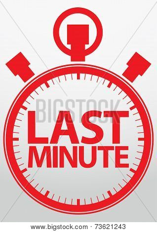 Last Minute Stopwatch discount Icon, Vector Illustration
