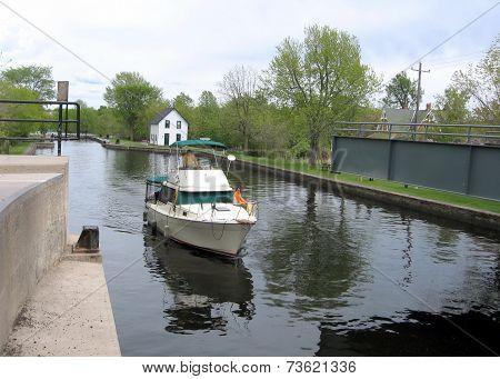 Rideau Canal Merrickville Boat Before Lock 2008