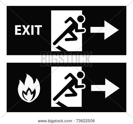 Emergency fire exit door