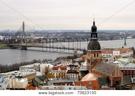Panorama view of Old Riga