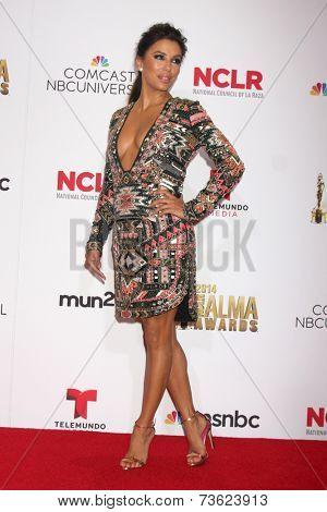 LOS ANGELES - OCT 10:  Eva Longoria at the 2014 NCLR ALMA Awards Press Room at Civic Auditorium on October 10, 2014 in Pasadena, CA