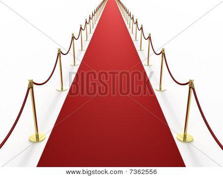 Infinitely long red carpet