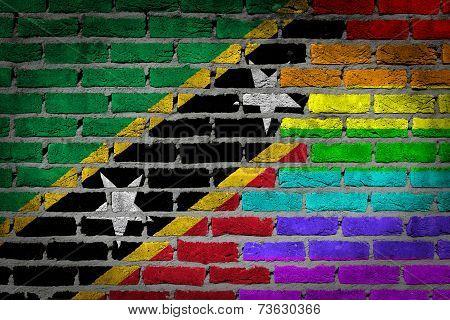 Dark Brick Wall - Lgbt Rights - Saint Kitts And Nevis