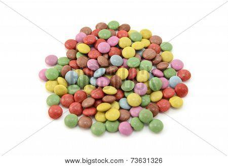 Colourful Sugar-coated Chocolate Beans
