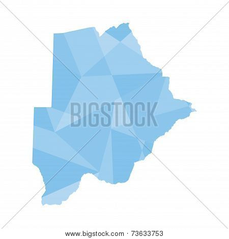 Illustration Of A Colourfully Filled Outline Of Botswana