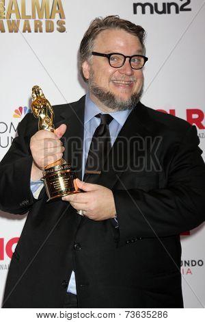 LOS ANGELES - OCT 10:  Guillermo del Toro at the 2014 NCLR ALMA Awards Press Room at Civic Auditorium on October 10, 2014 in Pasadena, CA